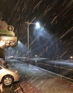中禅寺湖雪