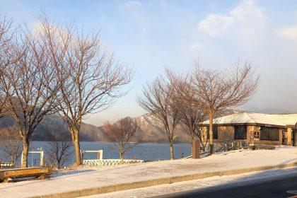 中禅寺湖で釣り